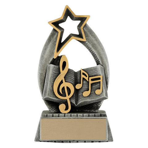 Academic Trophy - Music - Starlight - 2 Sizes (A3607) - Quest Awards
