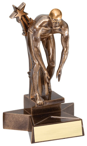 Swimming Trophy - Superstars Male - Quest Awards