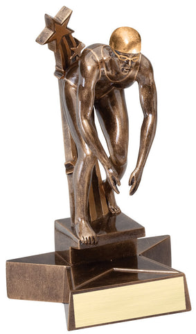 Swimming Trophy - Superstars Female - Quest Awards