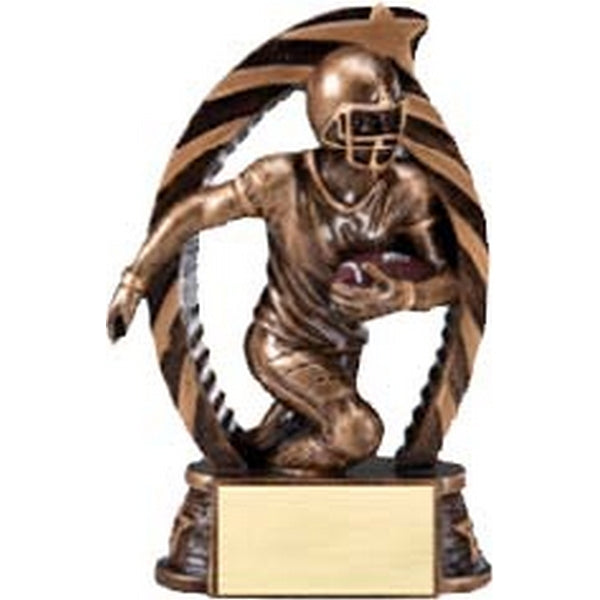 Football Trophy - Star Series - 2 Sizes (A2473) - Quest Awards