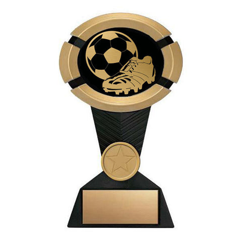 Soccer Trophy - Impact Black and Gold - Quest Awards