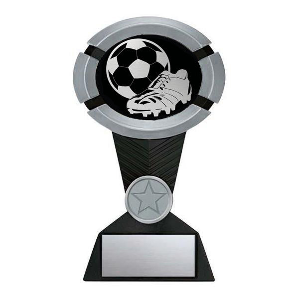 Soccer Trophy - Impact Black and Silver (A3024) - Quest Awards