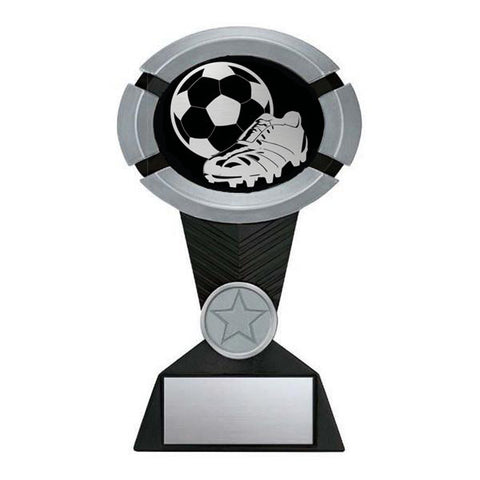 Soccer Trophy - Impact Black and Silver - Quest Awards