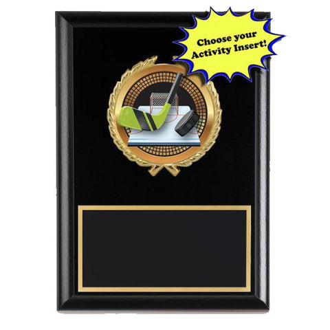 "Plaque - 5""x7"" Spectrum Series Inserts on Laminate Plaque (A2905) - Quest Awards"