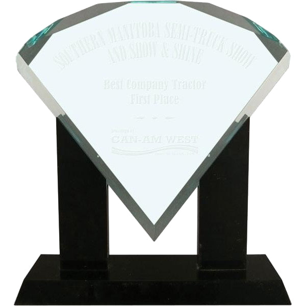 Acrylic Jade - Diamond with Stand - Quest Awards