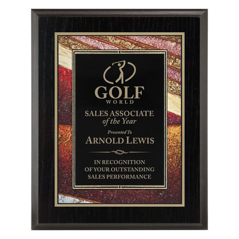 Plaque - Focus Series - Gold (A2912) - Quest Awards