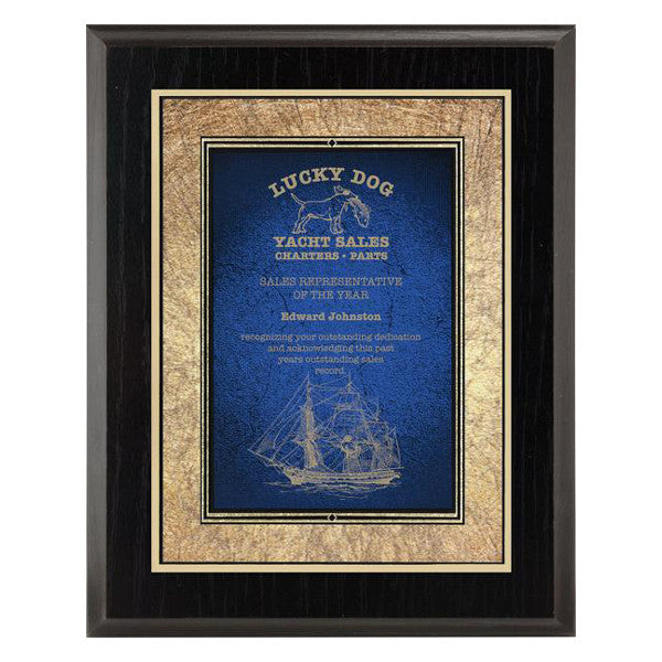 Plaque - Focus Series - Blue - Various Sizes and Laminated Finishes - Quest Awards