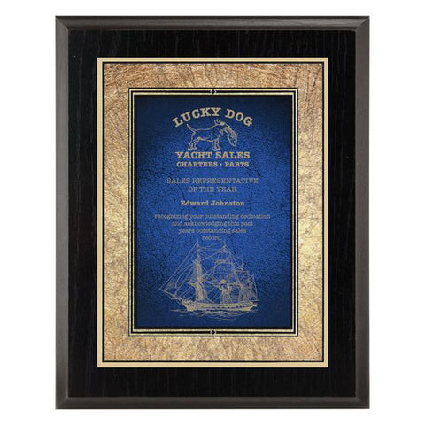 Plaque - Focus Series - Blue - Quest Awards