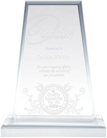 Acrylic Award - Clear Acrylic - Montrose - Quest Awards