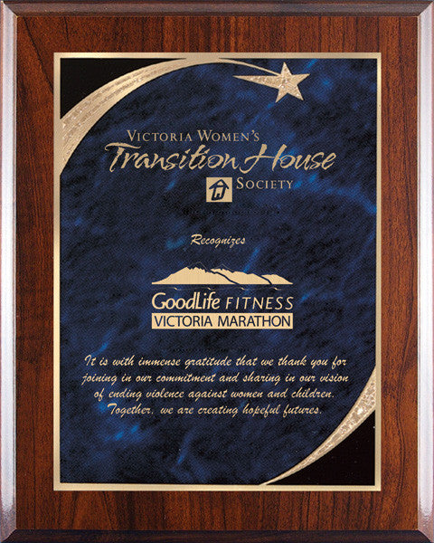 Plaques - Executive Shooting Star - Blue Marble - Quest Awards - 1