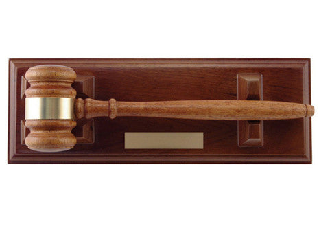 Gavel - Walnut Gavel with Stand - Quest Awards