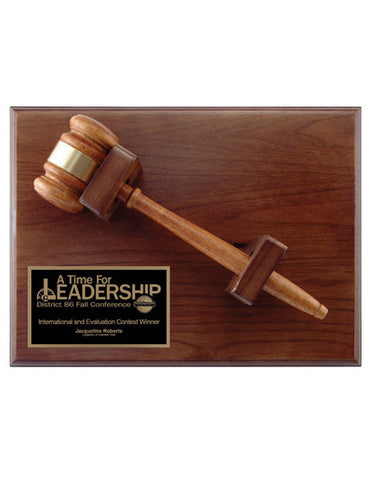 Gavel Walnut Plaque - Quest Awards