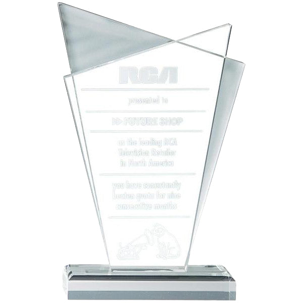 Acrylic Award - Clear Acrylic - Skye - Quest Awards