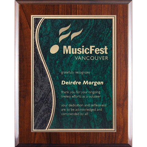 Plaques - Green Wave (A3477) - Quest Awards