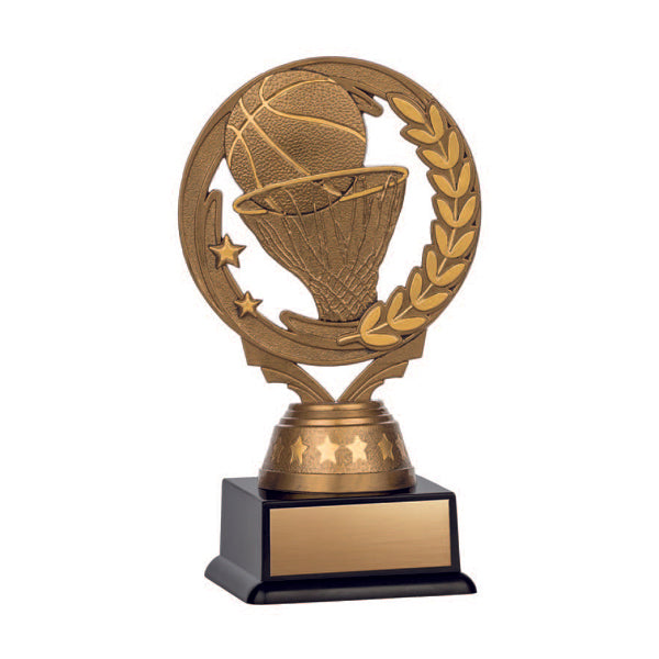 Basketball Trophy - Nexus Series - Antique Gold with Black Base (A3262) - Quest Awards