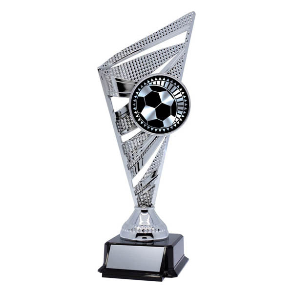Soccer Trophy - Solar Series - Silver - Quest Awards