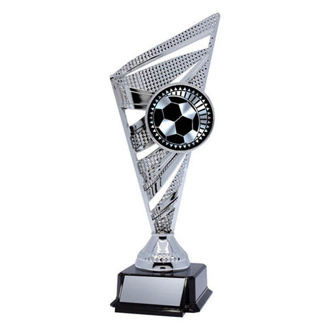 Soccer Trophy - Solar Series - Silver - 2 Sizes - Quest Awards