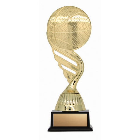 Basketball Trophy - Twister Series Basketball Wing - 2 Sizes (A3233) - Quest Awards