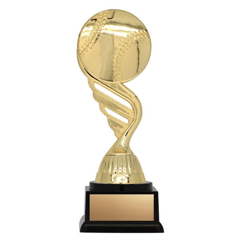 Baseball Trophy - Twister Series Baseball Wing (A3227) - Quest Awards