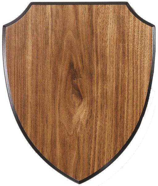 Walnut Plaque - Shield - Multiple Sizes & Colours (A3189) - Quest Awards
