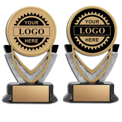 "Logo Insert Trophy - Varsity 6.5""Tall  (A2823) - Quest Awards"