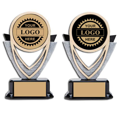 "Logo Insert Trophy - Varsity 5 1/2"" Tall (A2824) - Quest Awards"