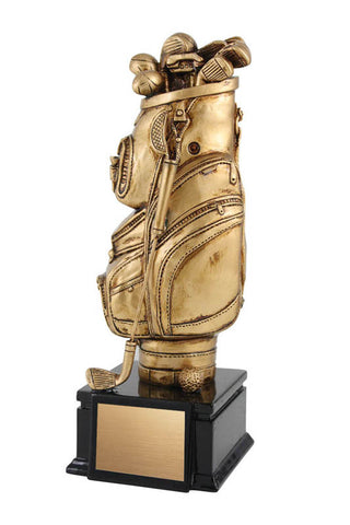 Golf Trophy - Artisan Golf Bag - Gold (A2580) - Quest Awards