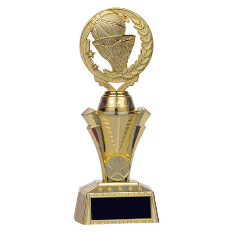 Basketball Trophy - Nexus Twister - Gold - 3 Sizes (A3243) - Quest Awards