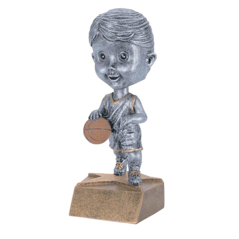 Basketball Trophy - Bobble Head - Boys (A2216) - Quest Awards