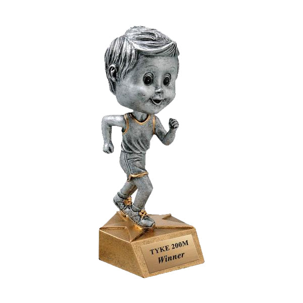 Track Trophy - Bobble Head - Boys (A3128) - Quest Awards