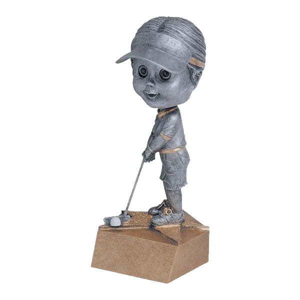 Golf Trophy - Bobble Head - Girls (A2586) - Quest Awards