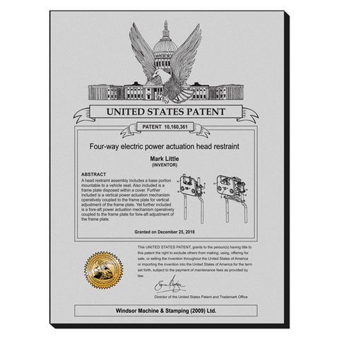 USA Patent Plaque - Brushed Steel Look (A3154)
