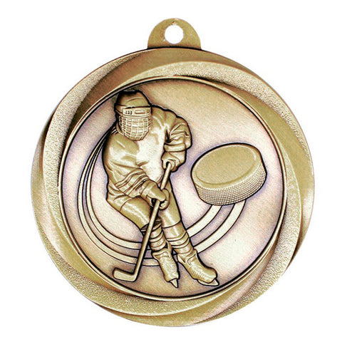 "Hockey Medallion - Vortex Hockey - Gold 2"" (A3545) - Quest Awards"