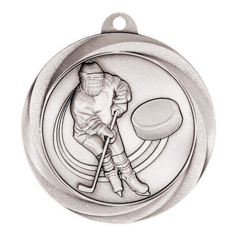 "Hockey Medallion - Vortex Hockey - Silver 2"" (A3546) - Quest Awards"