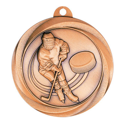 "Hockey Medallion - Vortex Hockey - Bronze 2"" (A3547) - Quest Awards"
