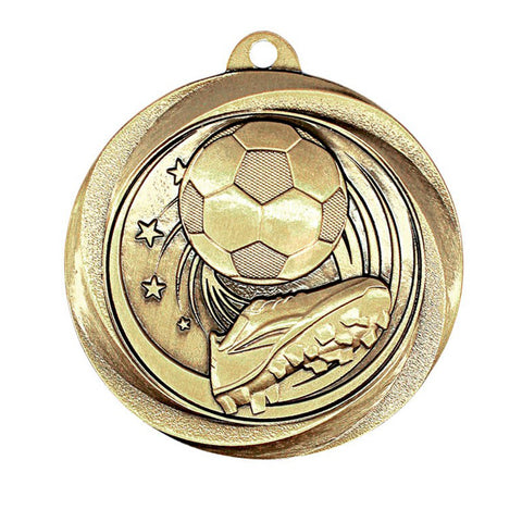"Soccer Medallion - Vortex Soccer - Gold 2"" (A3578) - Quest Awards"