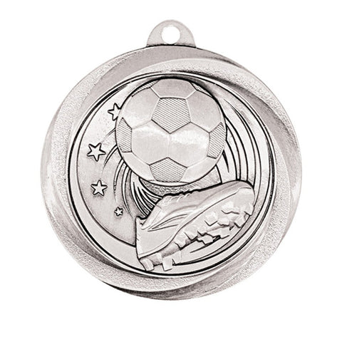 "Soccer Medallion - Vortex Soccer - Silver 2"" (A3579) - Quest Awards"