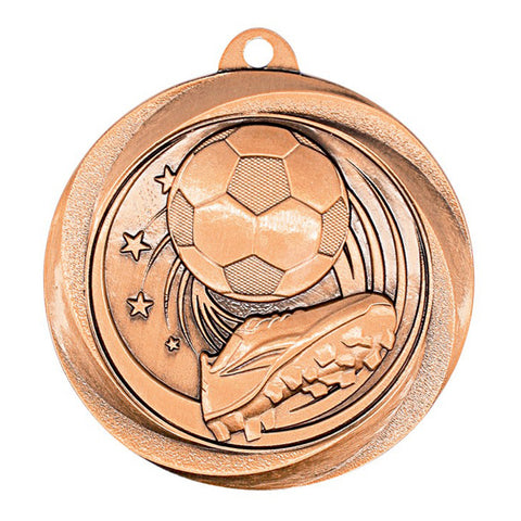 "Soccer Medallion - Vortex Soccer - Bronze 2"" (A3577) - Quest Awards"
