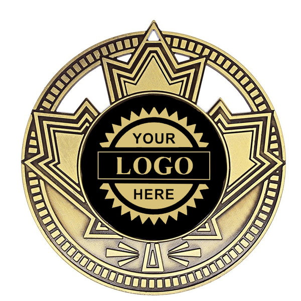 "Logo Insert Medallion - Patriot 2 3/4"" - Black with Gold Engraving (A3530) - Quest Awards"