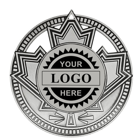 "Logo Insert Medallion - Patriot 2 3/4"" - Silver (A3528) - Quest Awards"