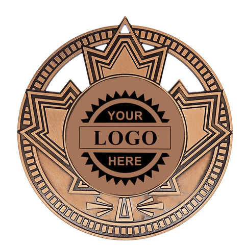 "Logo Insert Medallion Patriot 2 3/4"" Diameter - Bronze (A3529) - Quest Awards"