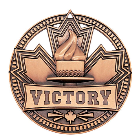 "Victory Medallion Patriot Sport 2 3/4"" Diameter - Bronze (A3526) - Quest Awards"