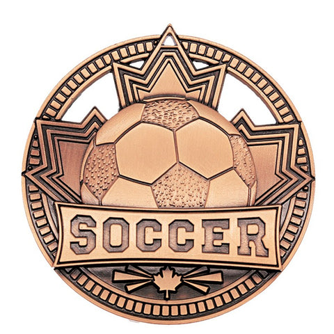"Soccer Medallion - Bronze Patriot 2 3/4"" Diameter - Bronze (A3563) - Quest Awards"