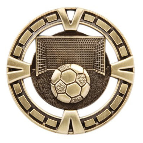 "Soccer Medallion - Varsity Sports Medals - 2 1/2"" Diameter - Quest Awards"