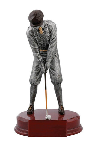 Golf Trophy - Old Fashioned Male Golfer - Quest Awards