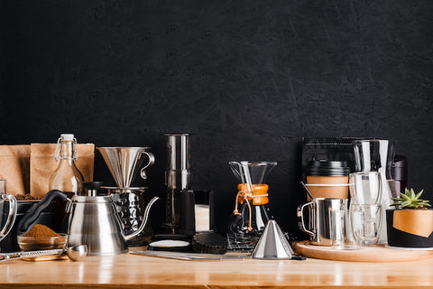 Coffee made using hot water - assorted methods