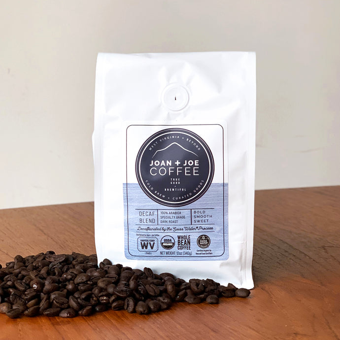Decaf Blend - Dark Roast Organic Decaf Whole Coffee Beans 12oz