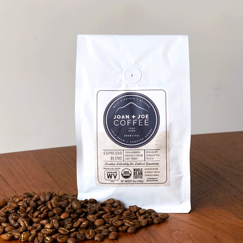Espresso Blend - Light Roast Organic Whole Coffee Beans 12oz