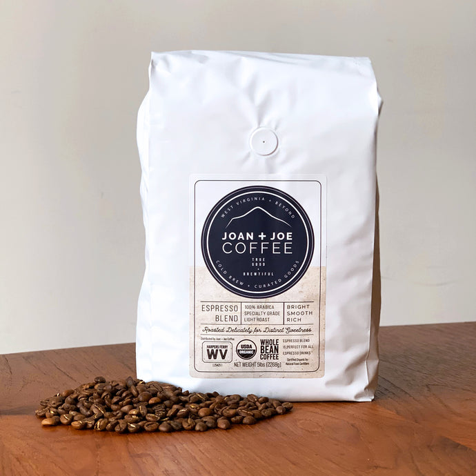 Espresso Blend - Light Roast Organic Whole Coffee Beans 5lb