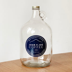 Joan + Joe Coffee Gallon Glass Growler